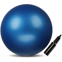 Мяч гимнастический INDIGO IN002 Anti-burst с насосом, d-75 см. Синий